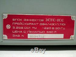 Esko-100 Ussr Réverbérateur À Écho Multi-effets À Bande Russe Et Soviétique