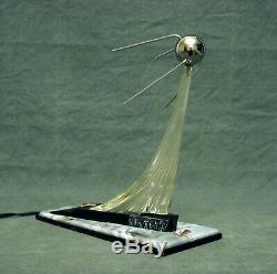 Espace Russe Vintage Exclusive Soviétique Spoutnik Rocket Lampe De Bureau Urss Rare