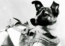 Espace Soviétique Russe Chien Laika Étui À Cigarettes Rocket Spoutnik 1957 Urss