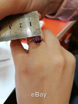 Étoile Soviétique D'anneau Russe Estampillée Vintage Ussr Jewelry Gold 14k 583 Alexandrite