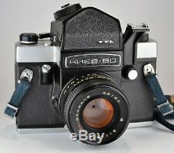 Exc! 1992 Russe Ussr Kiev-60 Medium Format Camera + MC Volna-3 F2.8 / 80 (3)