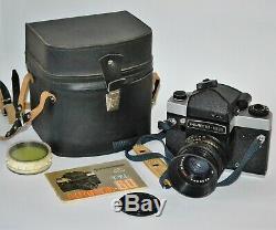 Exc! Russe Ussr Kiev-60 Camera Support De Format + MC Volna-3 (1) F2.8 / 80