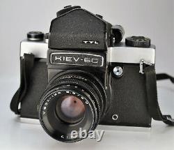 Exportation Russe Urss Kiev-6s (kiev-6c) Format Moyen Camera + Vega-12b Lens (3)