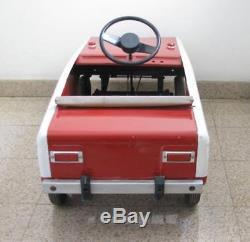 Extrêmement Rare Voiture Russe À Pédales Vintage Vaz Lada Cccp Russie Jouet Soviétique