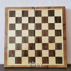 Fastship Middle Classic Soviétique Jeu D'échecs En Bois Russe Vintage Urss Antique