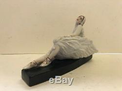 Figurine Antique 1930 En Porcelaine Soviétique D'anna Pavlova Par Natalia Danko