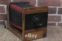 Fk Fkd 13x18 Urss Russe Grand Format Caméra En Bois Industar 51 Objectif