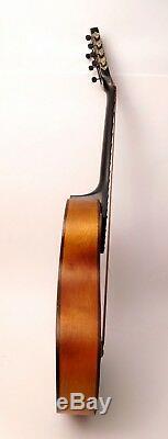 Guitare Acoustique Russe 7 Cordes Vintage Peinte À La Main Artiste Signé Des Années 1980 Urss