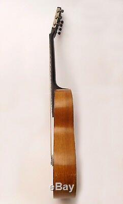Guitare Acoustique Russe À 7 Cordes, Peinte À La Main, Signée, 1965 Ussr