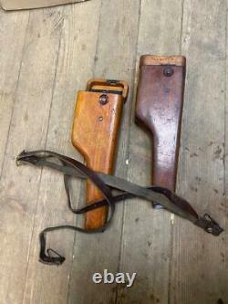 Holster Stechkin Pistol Aps Wooden +belt Original Russe Urss