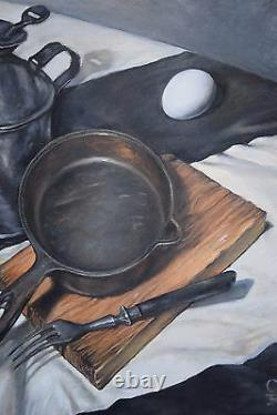 Huile Russe Originale Sur Toile Urss Réalisme Socialiste Peinture Nature Morte 2015