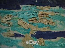 Huile Soviétique Russe Ukrainien Peinture Impressionnisme Matin Le Lever Du Soleil Paysage