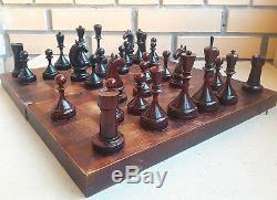 Jeu D'échecs De Tournoi Soviétique Des Années 50 Ancien Millésime Ancien Grand Maître Russe De L'urss