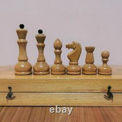 Jeu D'échecs Soviétique Classique Wooden Russian Vintage Urss Antique