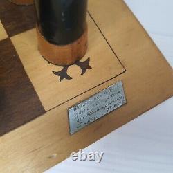 Jeu D'échecs Soviétique En Bois, Échiquier, Pièces D'échecs, Échecs Russes, Panneau De Cru