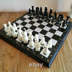 Jeu D'échecs Soviétique Laiton Carbolite Russe Vintage Urss Chessman Antique