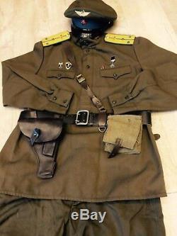 Jeu De 2 Uniformes Russes Soviétiques Tunique + Culotte + Chapeau + Ceinture Style 1943