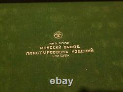 Jeux Olympiques Soviétiques Échecs Mis Russe Vintage Urss En Plastique Antique En Bois