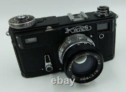 Kiev 4am Black Ussr Russe 35 MM Contax Copie Caméra + Helios-103 Lentille #8108298