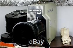 Krasnogorsk 2 Film Russe Caméra 16mm 1972 Urss Avec L'objectif Meteor 5-1 Kmz Set