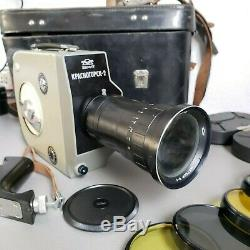 Krasnogorsk 2 Russe Caméra Film 16mm 1972 Urss Avec L'objectif Meteor 5-1 Kmz