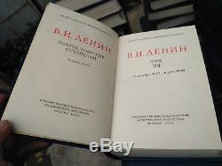 Livre Soviétique Russe V. I. Lénine. Œuvres Réunies 55 Volumes