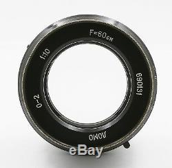 Lomo O-2 0-2 10 / 600mm Urss Russe F10 60cm Soviétique Objectif Grand Format