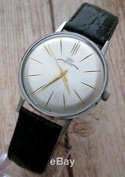 Luch De Luxe Russe Urss Montre-bracelet D'origine Mécanique Slim Rares Hommes Soviétiques De