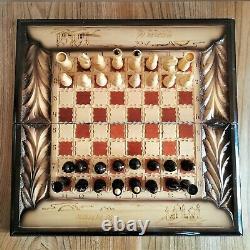 Main De Cru En Bois Sculptée Ensemble D'échecs Soviétiques Urss Échecs Antiques Russes