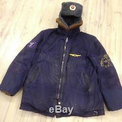 Manteau De Bombardier (l) De Pilote Militaire Militaire Russe