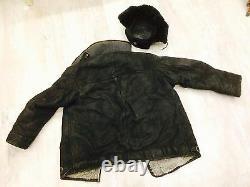 Manteau De Pilote D'uniforme Soviétique Vintage (peau De Mouton)+chapeau, Modèle Ww-2