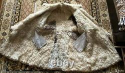 Manteau Russe Tulup D'hiver Cuir Sheepskin Bekesha Taille Urss 58