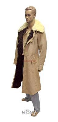 Manteau Uniforme Bekesha Officier De L'armée Russe Manteau En Peau De Mouton D'hiver