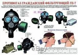 Masque De Gaz Pmk-2 (gp-7) Protéger Nouveau Jeu Militaire De L'armée Russe Soviétique De Tchernobyl