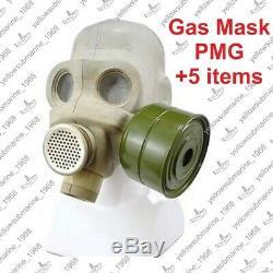 Masque Vintage Soviétique Urss Militaire Russe Pmg Gaz Avec Sac D'origine Taille 1