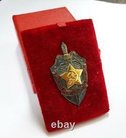 Médaille De L'ordre Soviétique Soviétique Pin Kgb Nkvd Collaborateur D'honneur Insigne Cccp