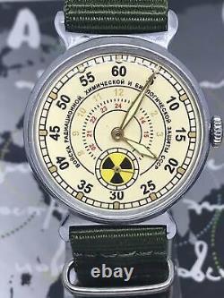 Men's Soviet Watch Pobeda Radiation Troops Vintage Mechanical Russian Watch Urss