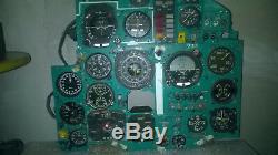 Mig-25 Panel Rbsh Pilot Instrumental Cockpit Avec Les Dispositifs De Chasse Soviétique De Russie