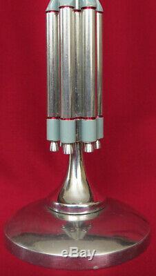 Modèle En Métal Soviétique Space Rocket Statue Proton Urss Russe Vintage