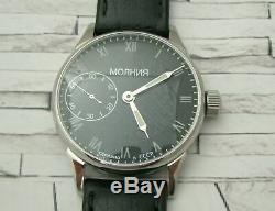 Molniya Montre Marriageussr Aviator 3602 S Mécanique Soviétique Russe Rare
