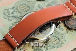 Montre Komandirskie Soviétique Russe Bracelet En Cuir Urss + Au Style De L'otan / S