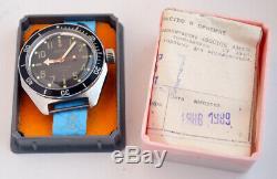 Montre Russe Militaire Vostok Vostok Ussr Cccp Box & Paper 1989