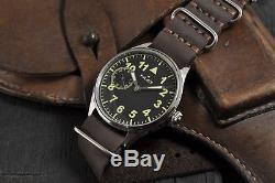 Montre-bracelet De Pilote Militaire Soviétique Vintage De Molnija Russe Ussr 1950