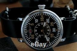 Montre-bracelet Militaire Russe Urss Avec Bracelet En Cuir Neuf