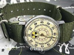 Montres Pobeda Radiation Troops Vintage Hommes Soviet Mécanique Russe Montre Urss