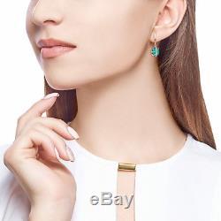 New Beaux Bijoux De Style Russe Boucles D'oreilles En Or Rose Massif Urss 14k 585 3,32 G Agate