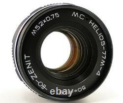 Nouveau MC Helios 77m-4 50 MM F / 1.8 Urss Soviétique Russe Objectif Montage À Vis M42 Mint