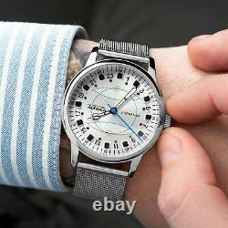 Nouveau! Raketa Watch 24h Polaire Mécanique Russe Soviet Urss Hommes Rare Vintage