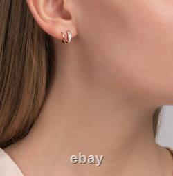 Nouveaux Boucles D'oreilles En Or Rose Rose Rose 14k 1.65g Bijoux Fins Zirconia Ussr Russie