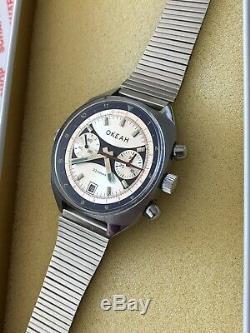 Okean 3133 Italien Chronographe Poljot Vintage Cccp Russe